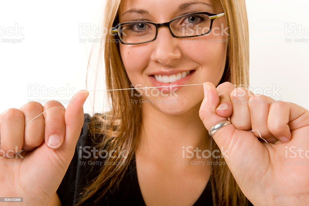 Floss your teeth!!! stock photo