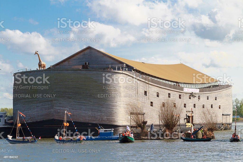Flotilla of ships stock photo