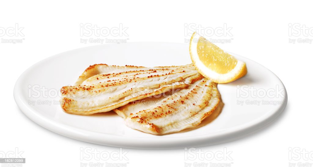 flounder fillets royalty-free stock photo