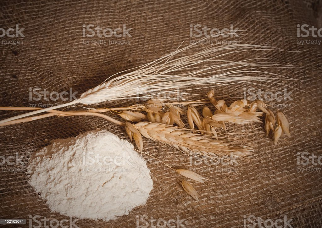 flour and cereals royalty-free stock photo