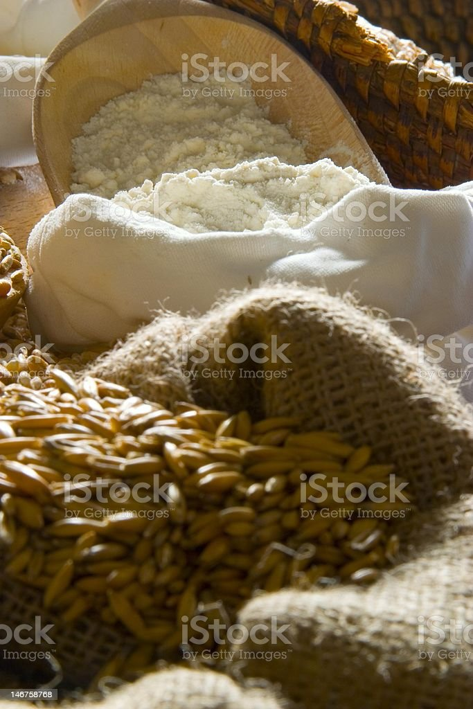 Flour and seeds royalty-free stock photo