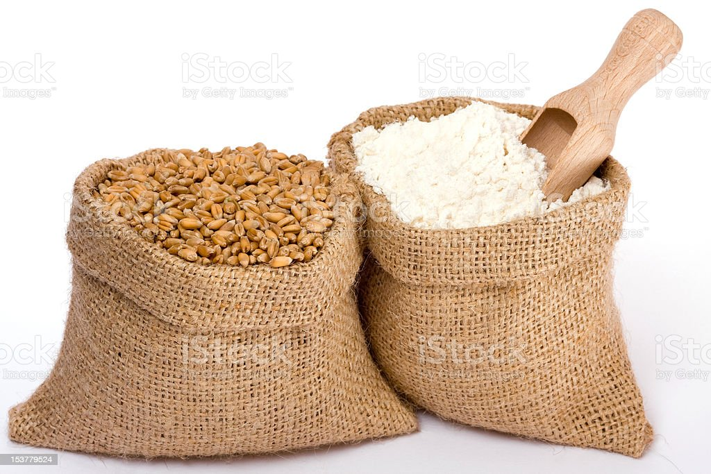 Flour and wheat royalty-free stock photo