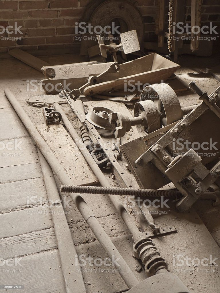 Flour Mill Machinery Parts stock photo