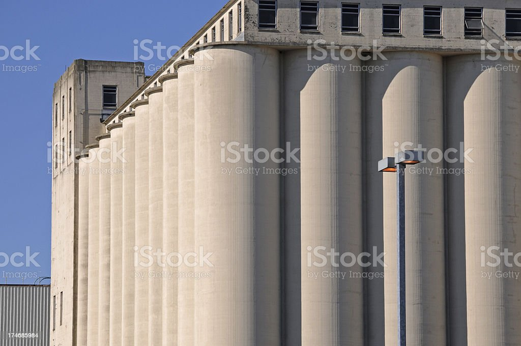 Flour mill royalty-free stock photo