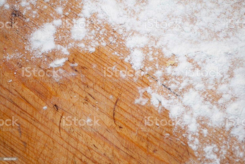 Flour on the kitchen board stock photo