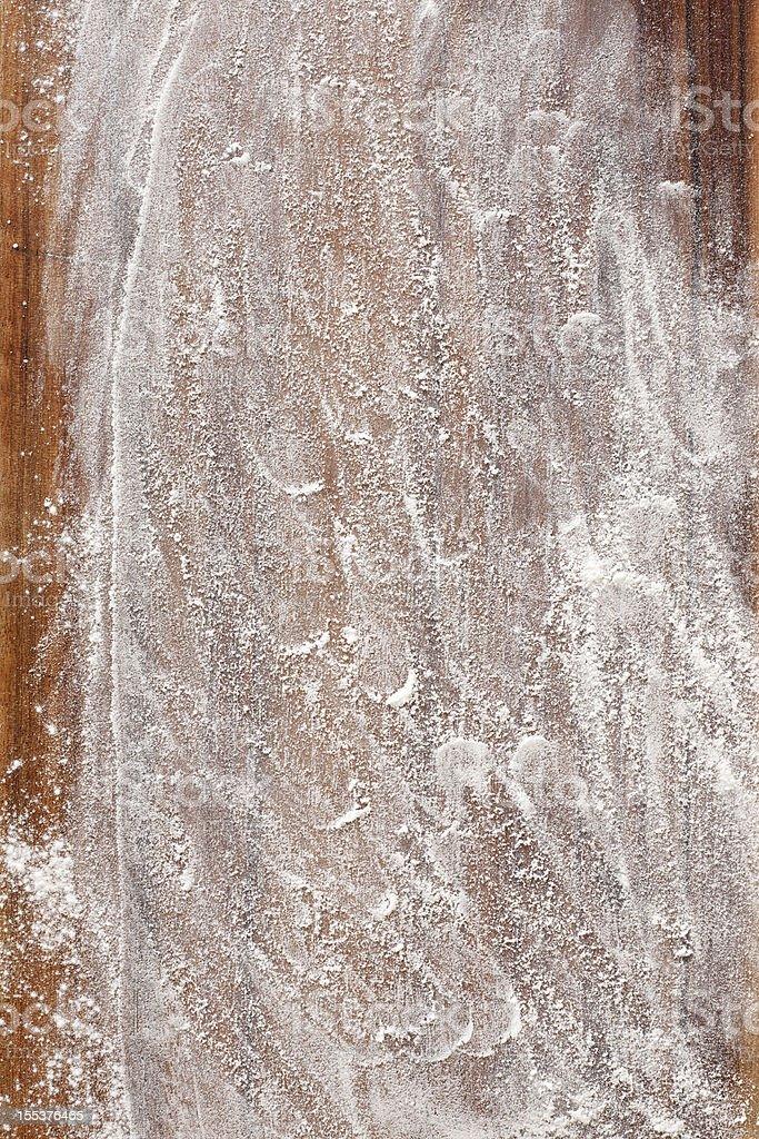 Flour over wood stock photo