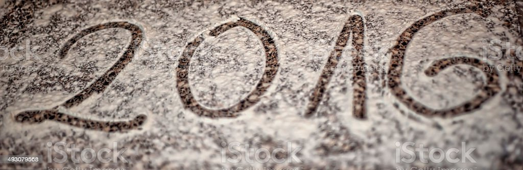 Flour Shape - Number 2016 stock photo