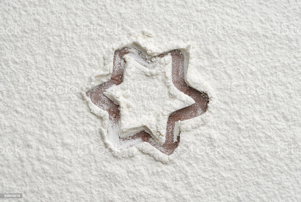 Flour shape number three royalty-free stock photo