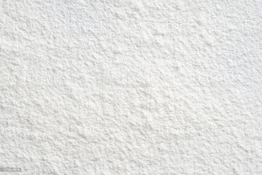 Flour / snow surface number eleven stock photo