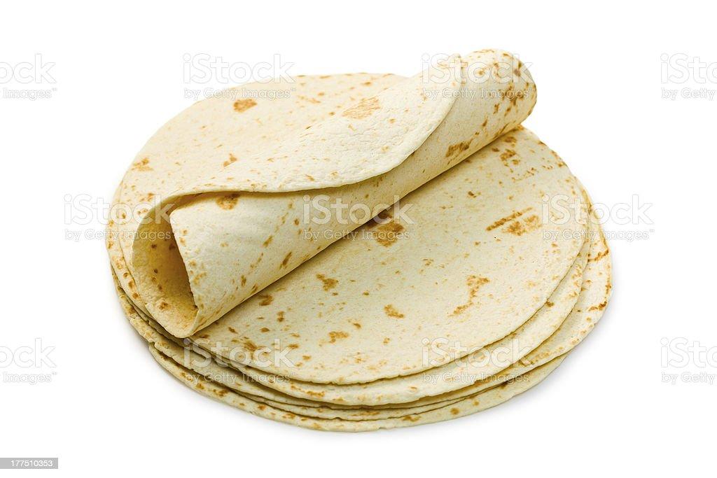 flour tortillas stock photo
