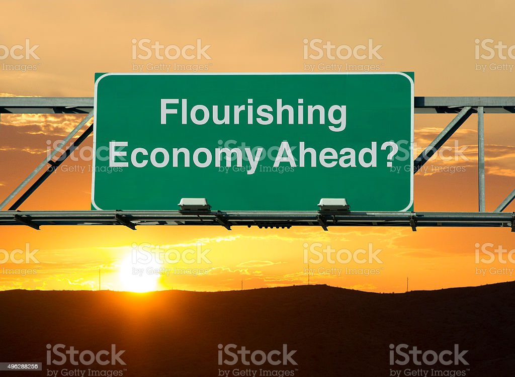 Flourishing Economy Ahead? stock photo