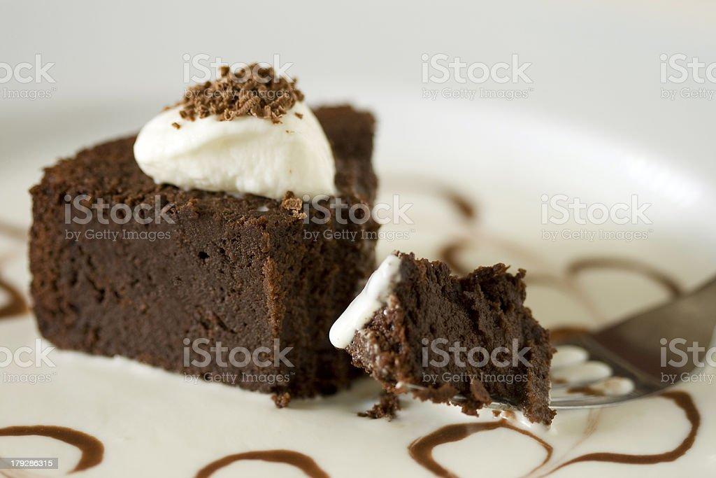 Flourless Chocolate Cake stock photo