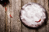 Flourless chocolate cake with red hot pepper