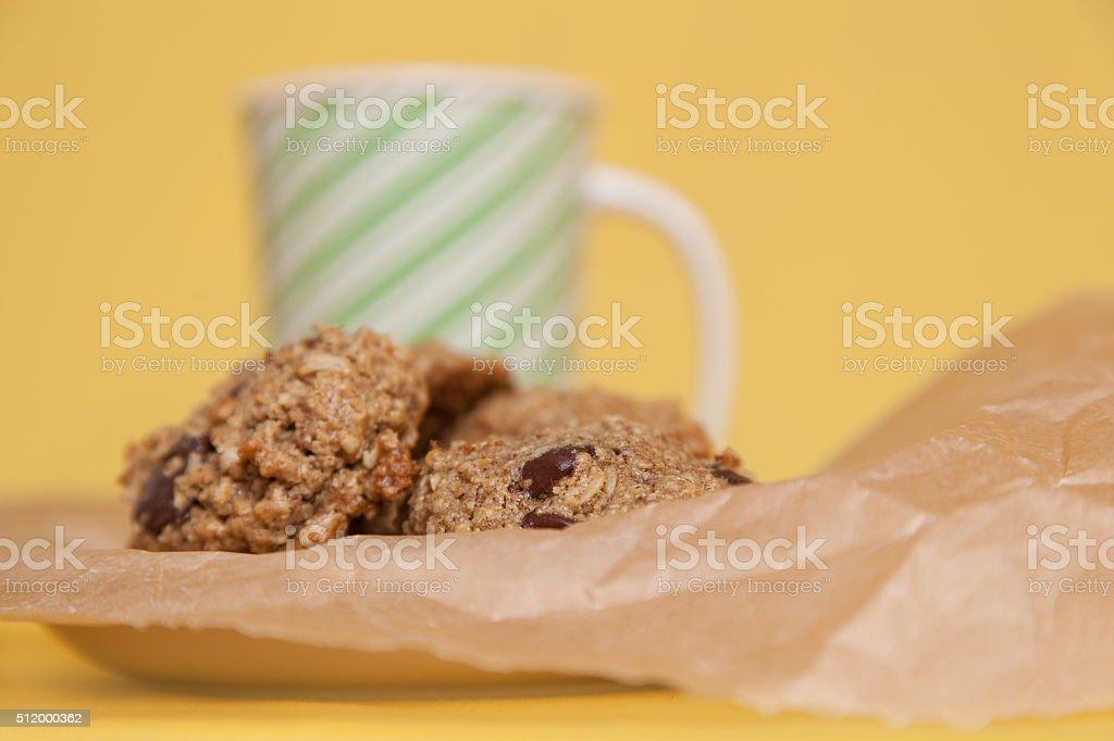 Flourless Oatmeal Cookies stock photo