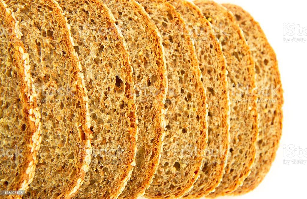 Flourless Organic Sprouted Grain Bread stock photo