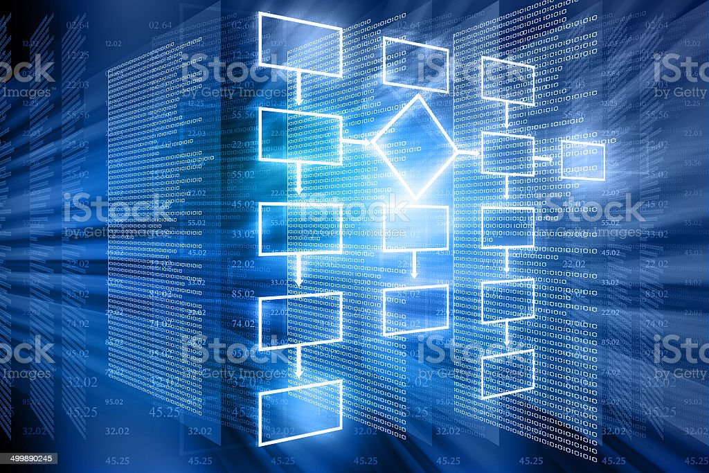 flow chart background stock photo