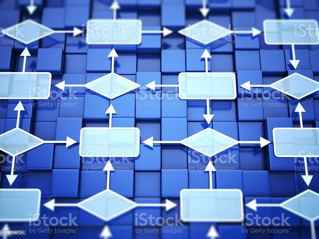 Flow chart concept stock photo