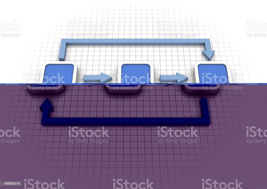 Flow Chart Diagram stock photo