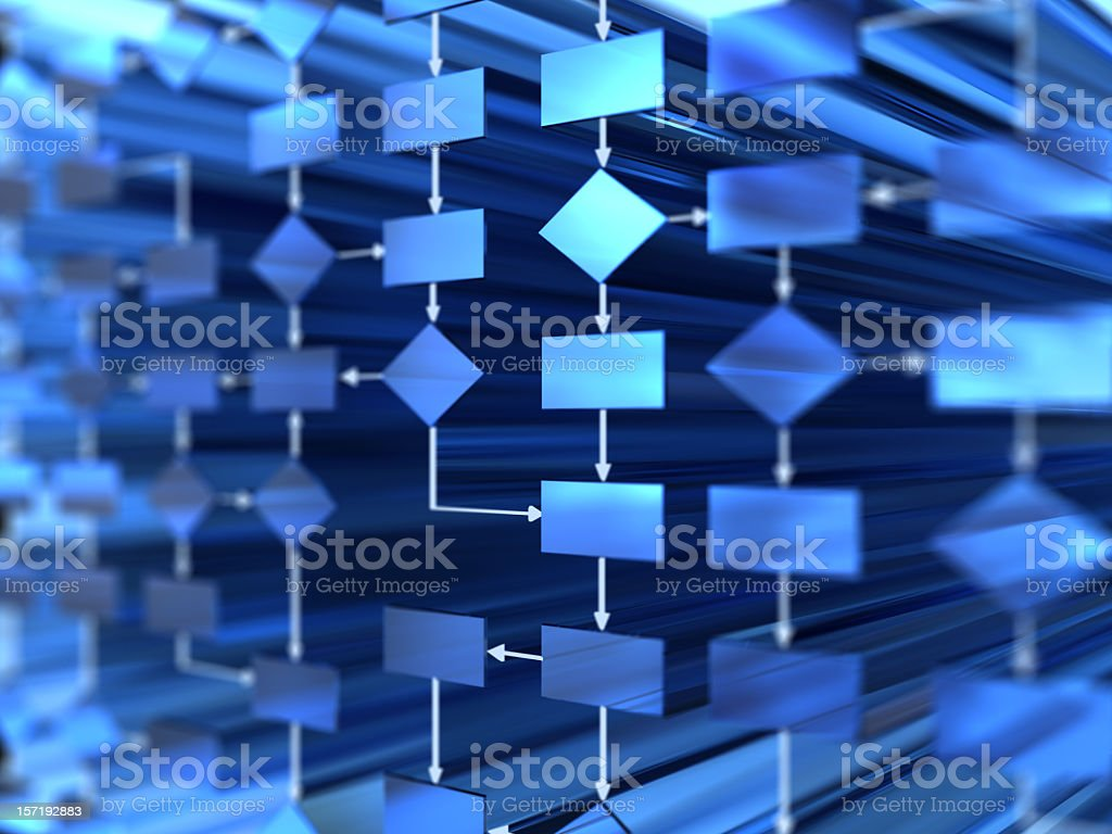 flow chart stock photo