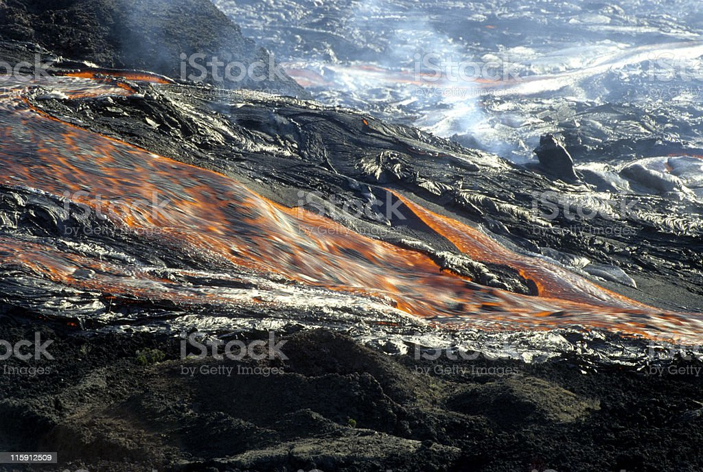 flow of lava 1 royalty-free stock photo