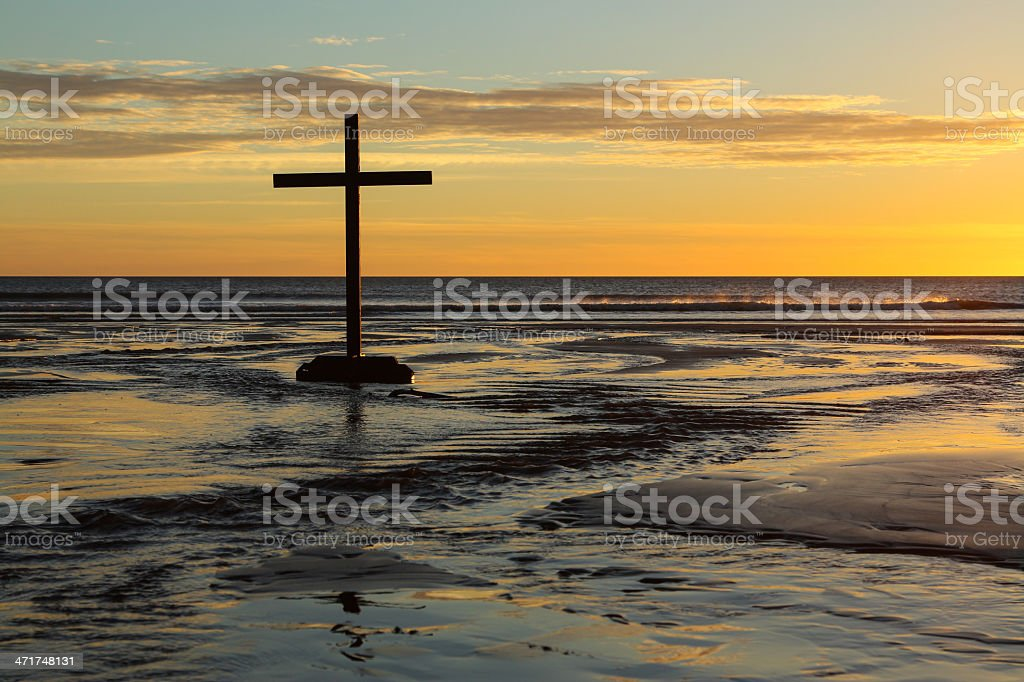Flow Waters Cross stock photo