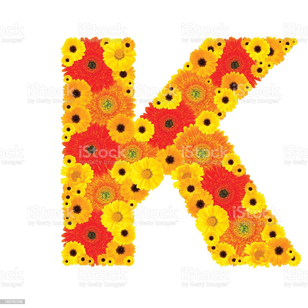 Flower Alphabet - K royalty-free stock photo