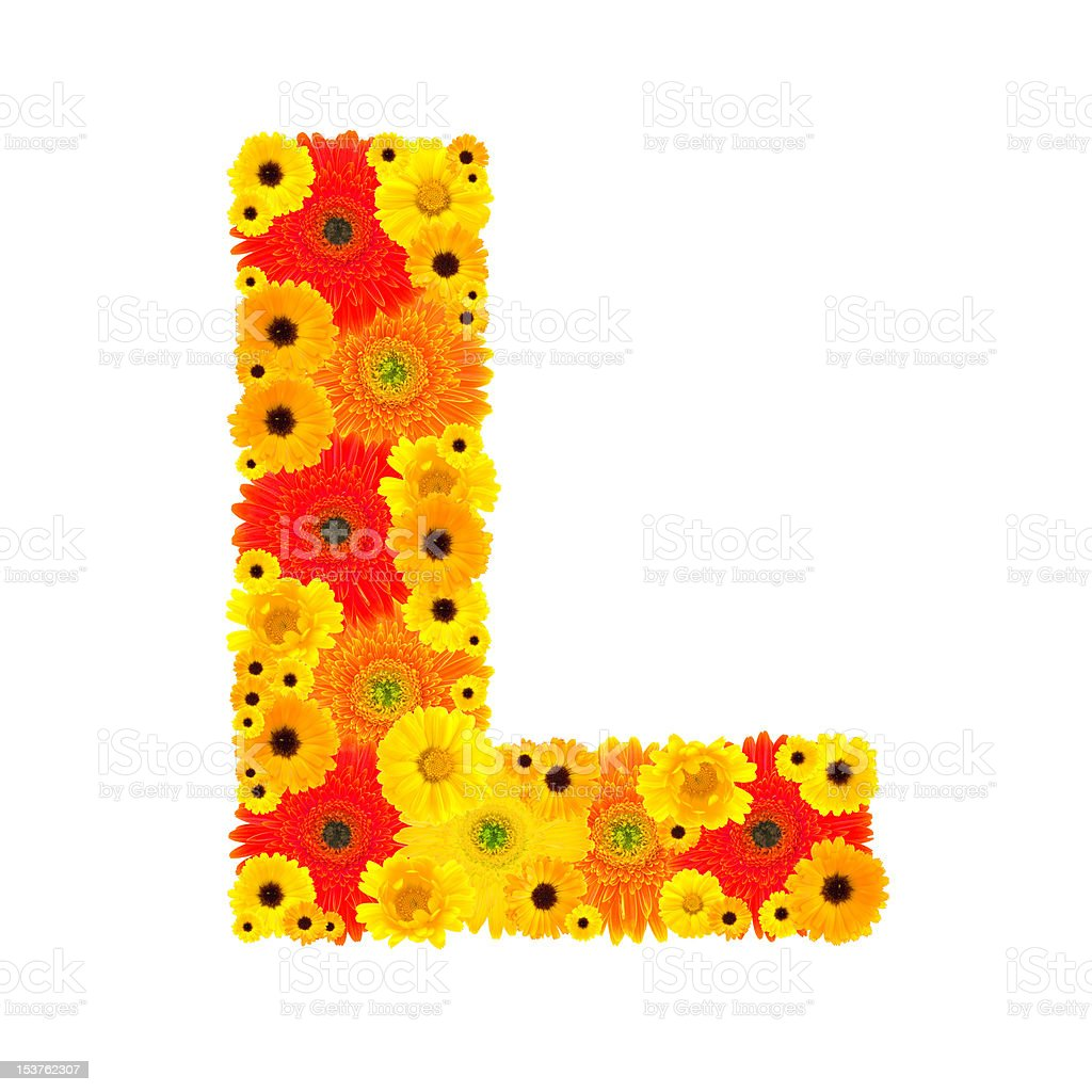Flower Alphabet - L royalty-free stock photo