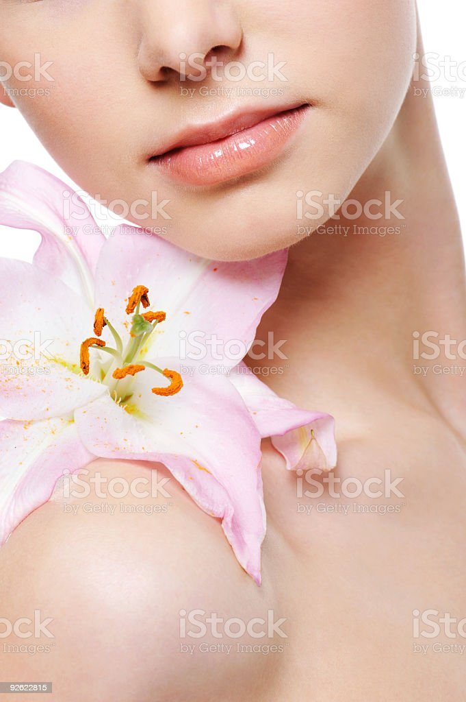 flower and body royalty-free stock photo