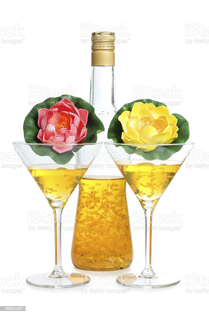 Flower and martini royalty-free stock photo