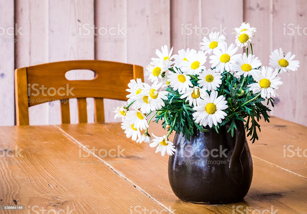 flower and table stock photo