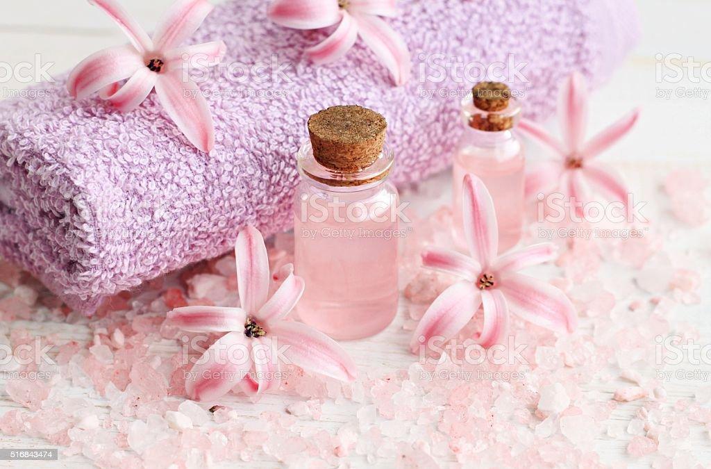 Flower aromatherapy. stock photo