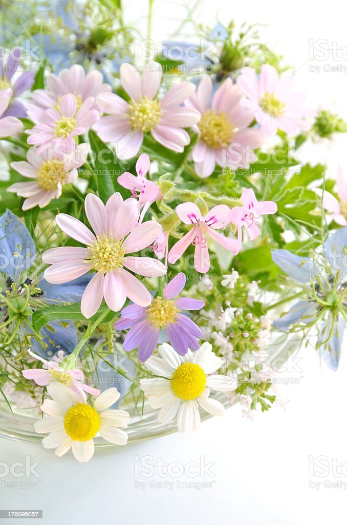 flower arrangement with herbal flowers royalty-free stock photo