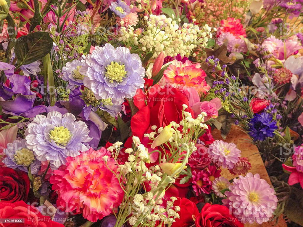 flower at the florist market royalty-free stock photo