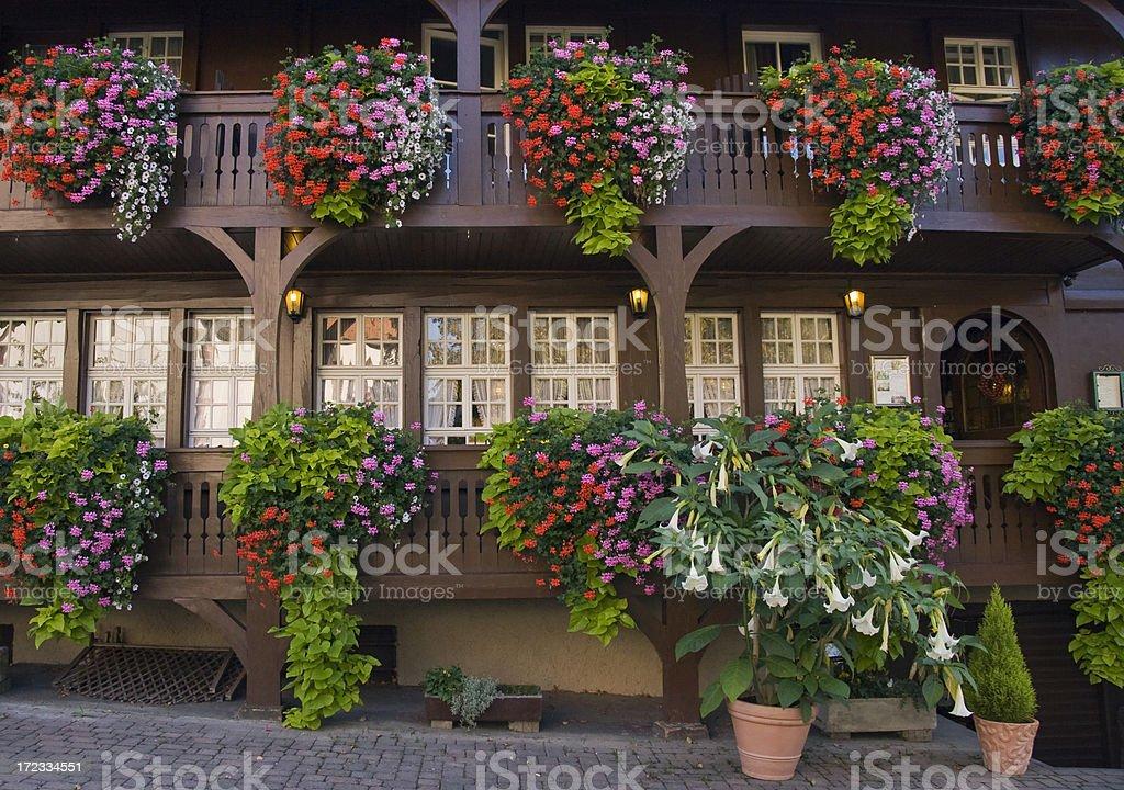 flower balcony royalty-free stock photo
