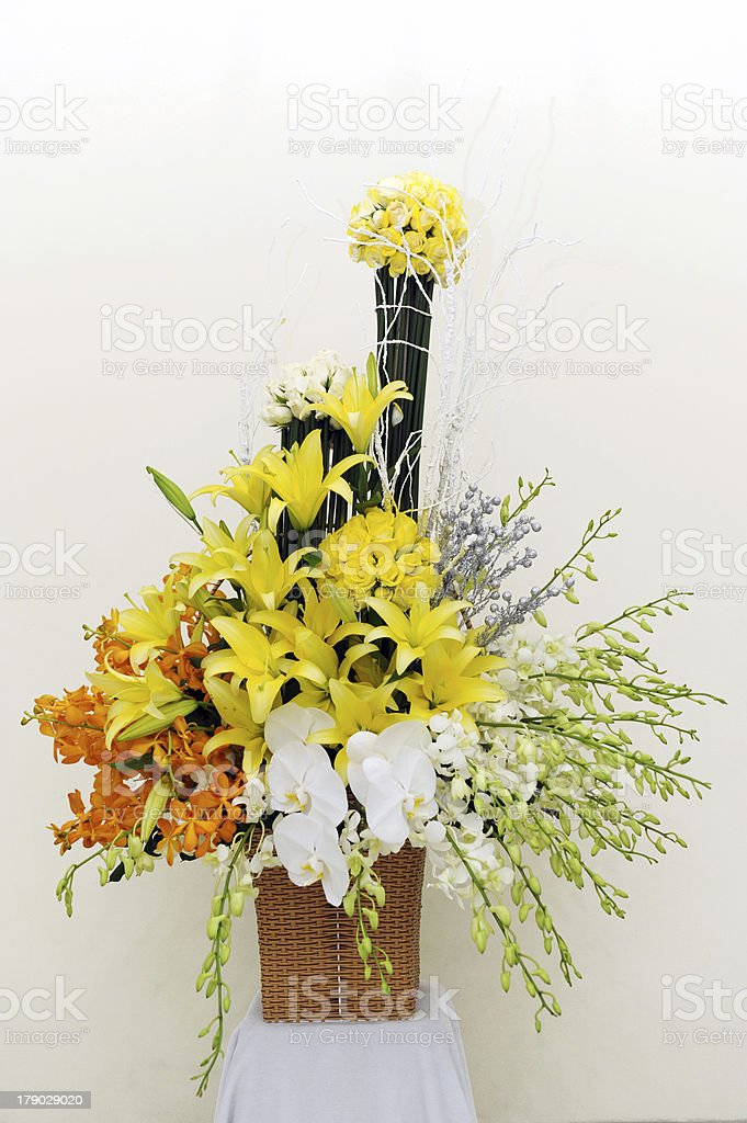 Flower basket royalty-free stock photo