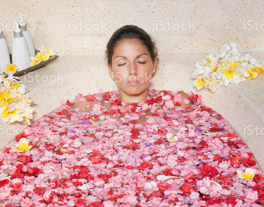Flower Bath, Beauty Spa Treatment royalty-free stock photo