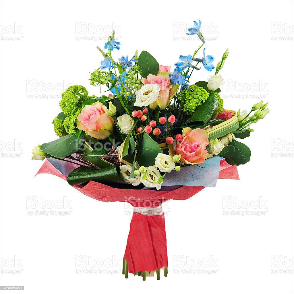 Flower bouquet from multi colored roses iris and other flowers stock flower bouquet from multi colored roses iris and other flowers royalty free stock izmirmasajfo