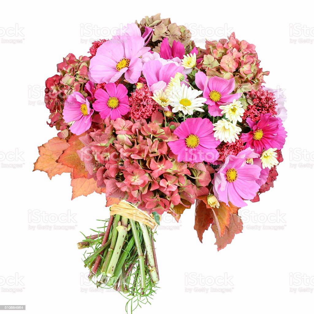 Flower bouquet, isolated stock photo