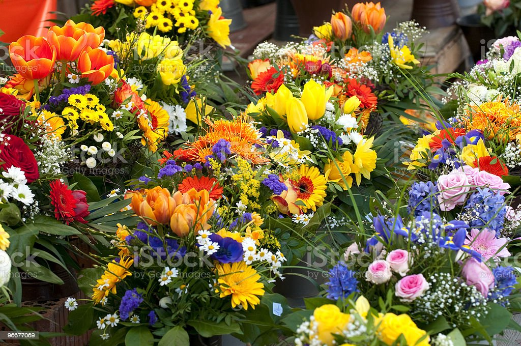 Flower Bouquets royalty-free stock photo