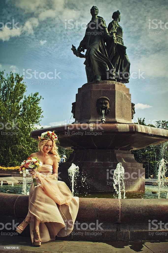 Flower bride royalty-free stock photo