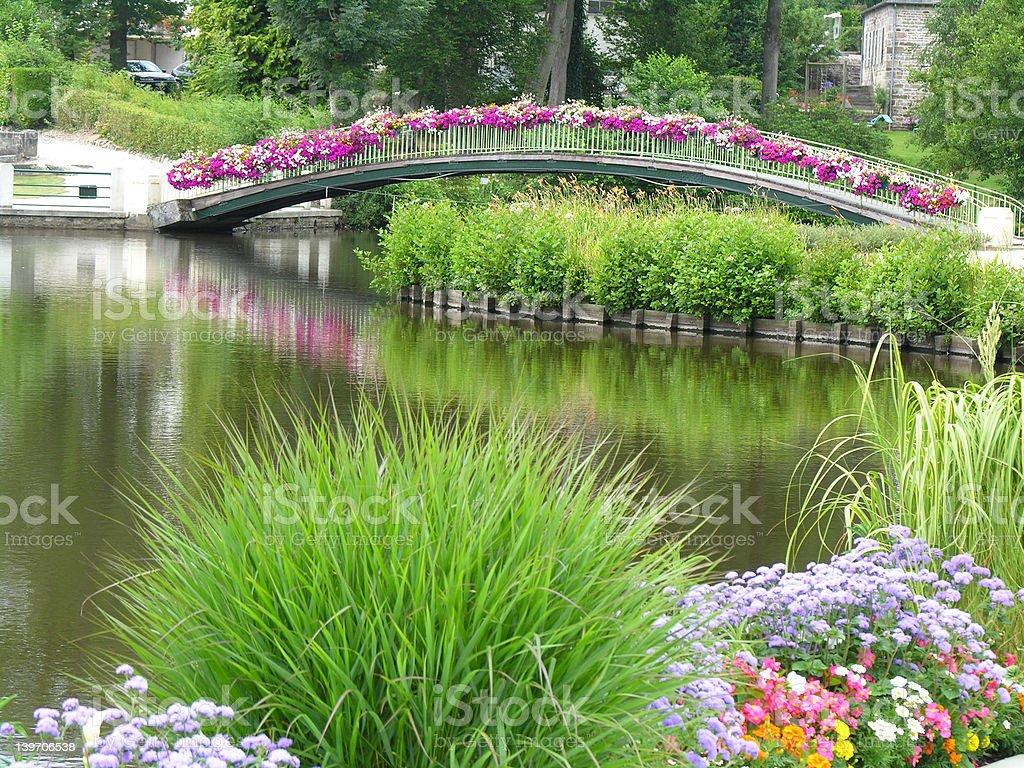 Flower bridge royalty-free stock photo