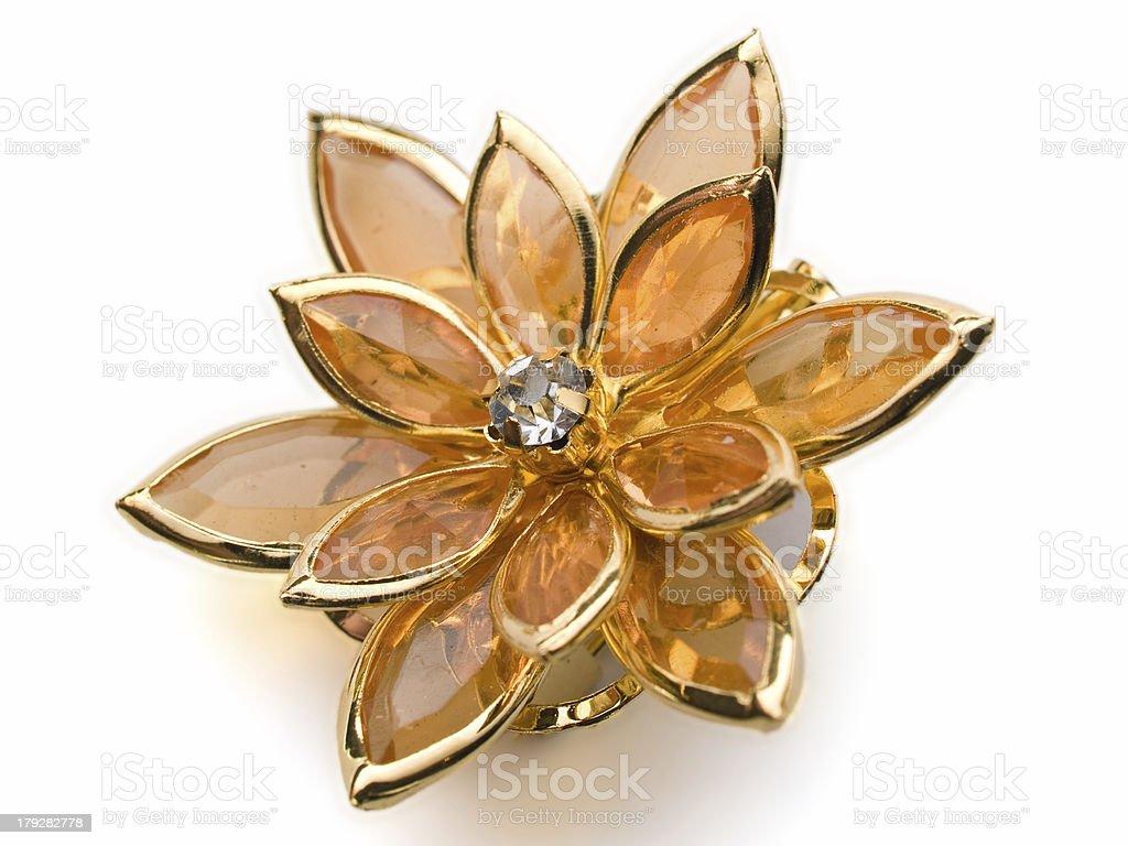 flower broach royalty-free stock photo