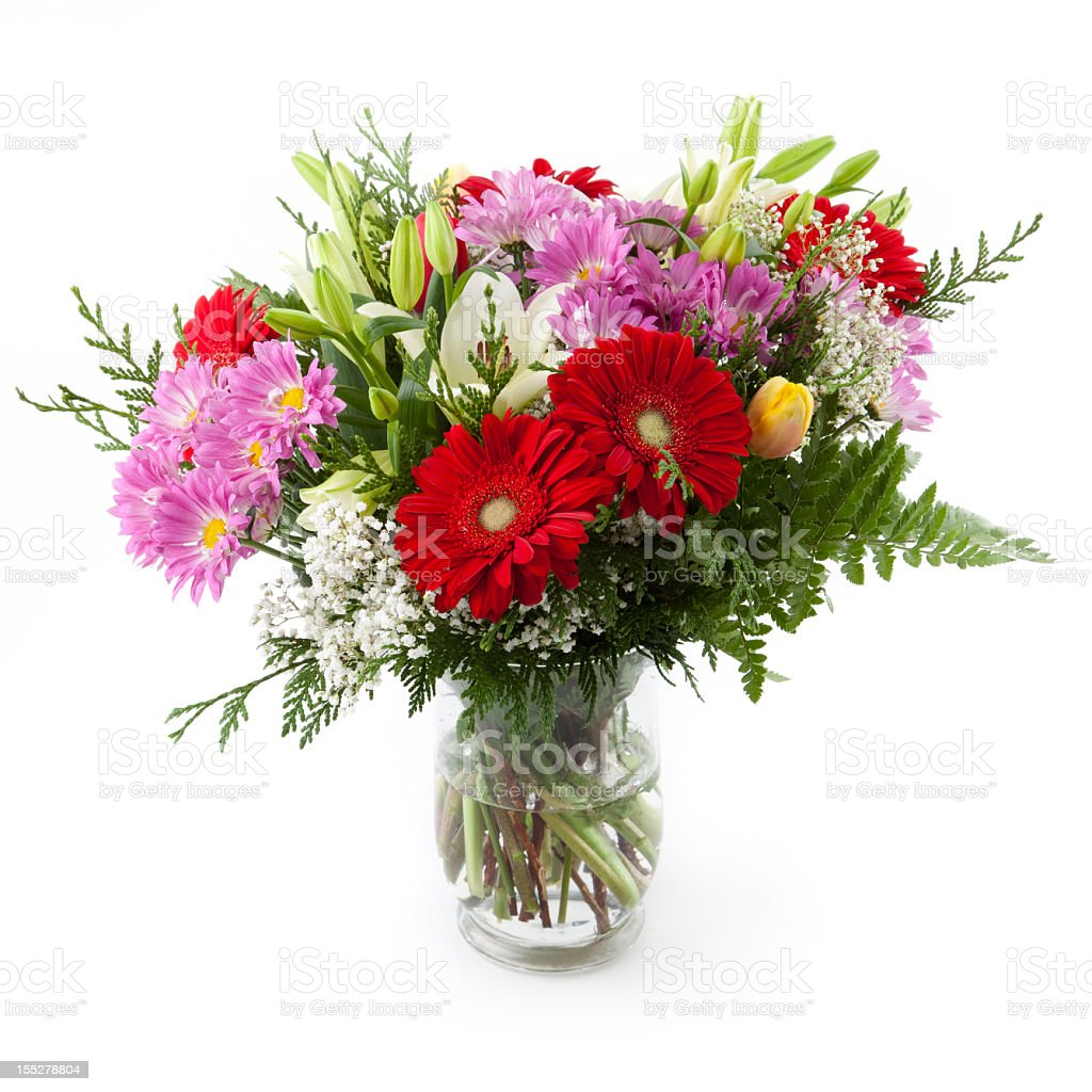 Flower bunch in a vase royalty-free stock photo