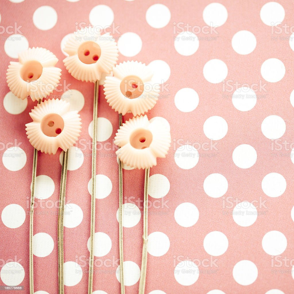 Flower buttons royalty-free stock photo