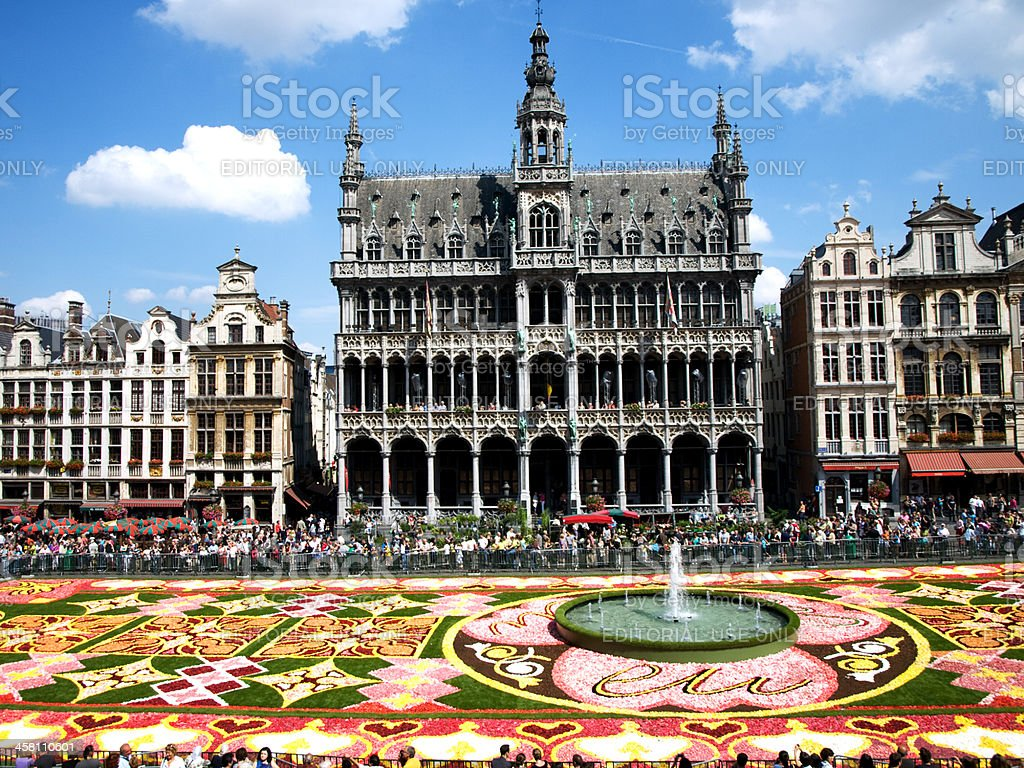Flower Carpet in Brussels royalty-free stock photo