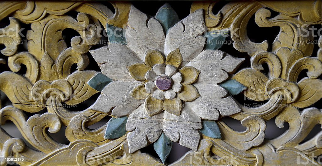 flower carved backgrounds stock photo