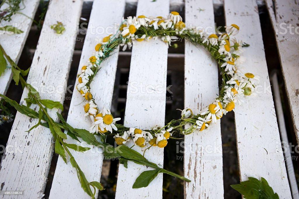 Flower chain stock photo