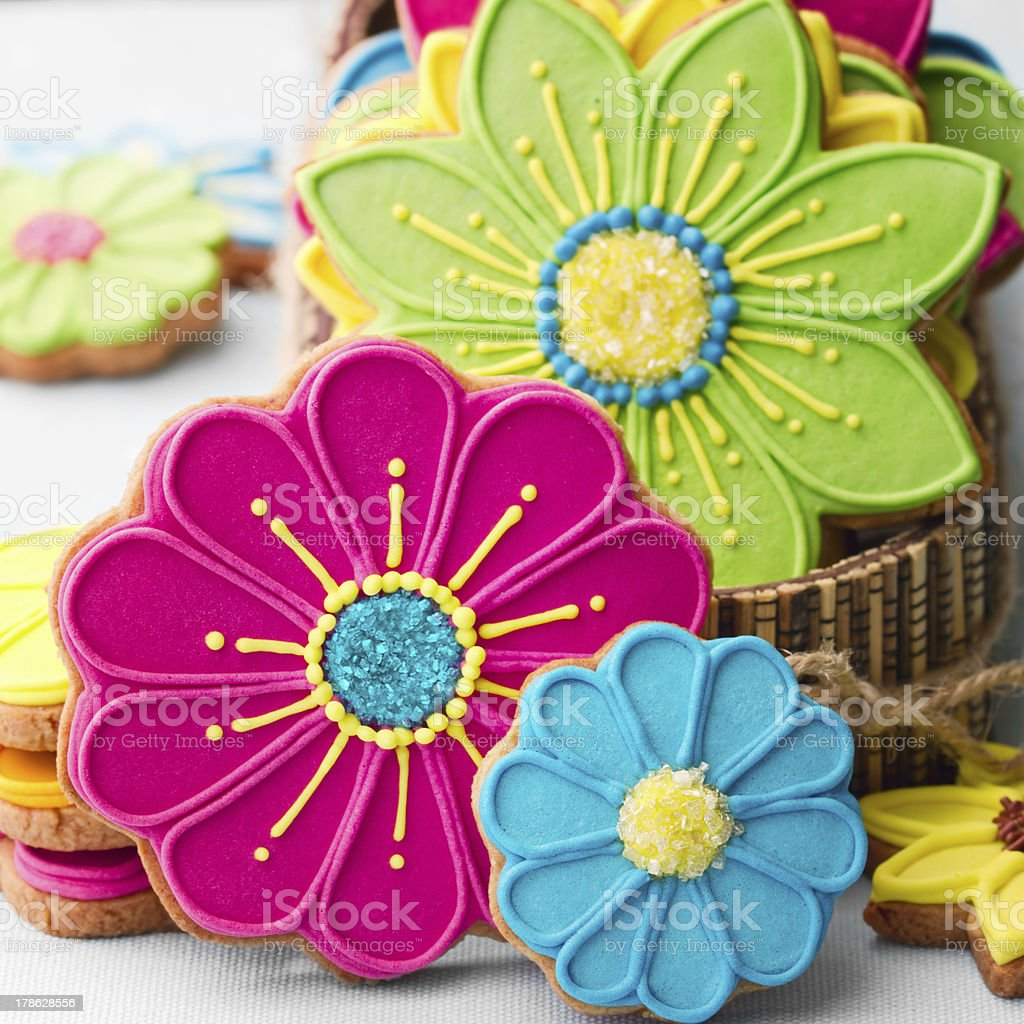 Flower cookies stock photo