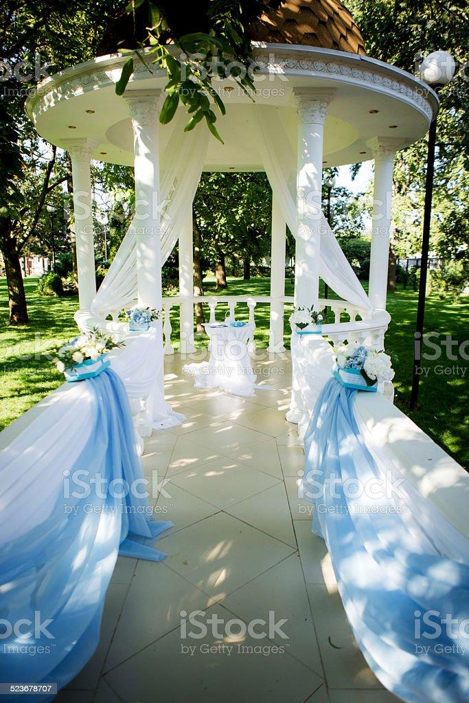flower decor wedding ceremony royalty-free stock photo