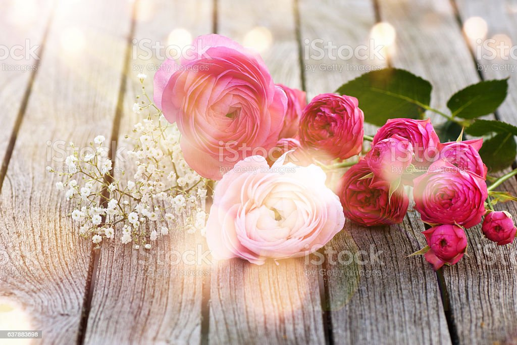 Flower decoration in spring stock photo